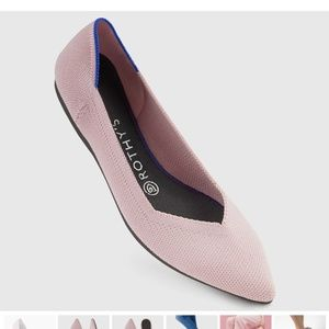 Rothy's Petal Pink Solid Pointed Toe Flat Size 6